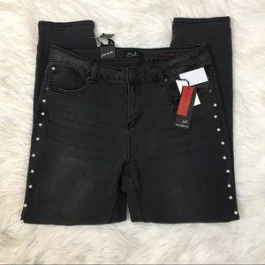 NWT Earl gray black skinny jeans sz 14